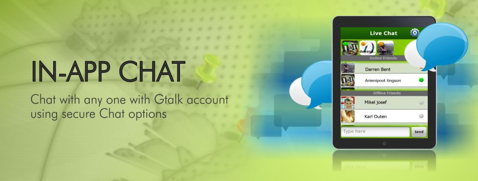 Chat with any one with Gtalk account using secure Chat options with Rapid Tracker